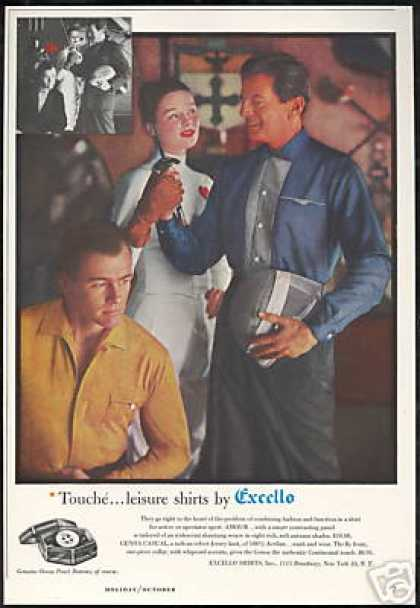 Pretty Fencer Fencing Foil Excello Shirt Photo (1959)