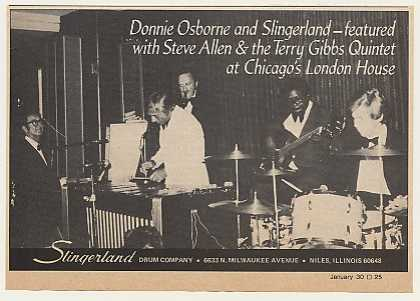 Donnie Osborne Terry Gibbs Slingerland Drums (1975)