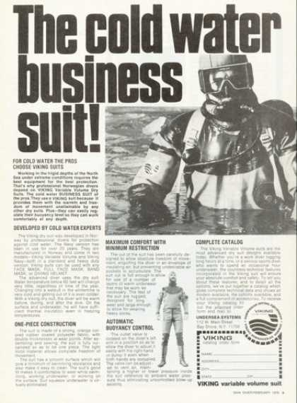 Viking Variable Volume Dive Suit Ad T (1976)