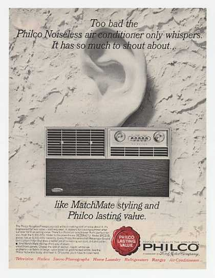 Philco Noiseless Air Conditioner Ear Sculpture (1964)