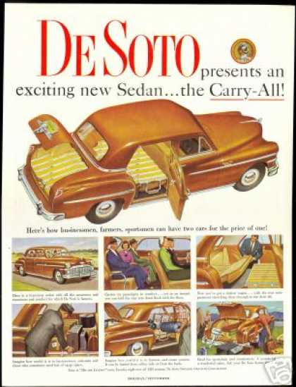 De Soto Cary all Sedan Desoto Car Art (1949)