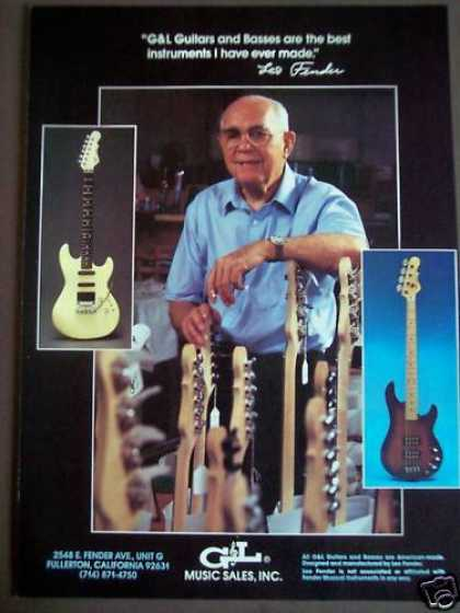 Leo Fender of G&l Guitars, Basses Music (1988)