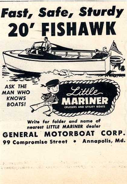 Little Mariner's 20' Fishawk boats (1956)