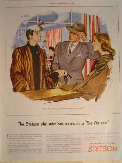Stetson Hat Hats The Whippet (1945)