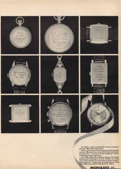 Movado Pocket Wrist Watch (1964)