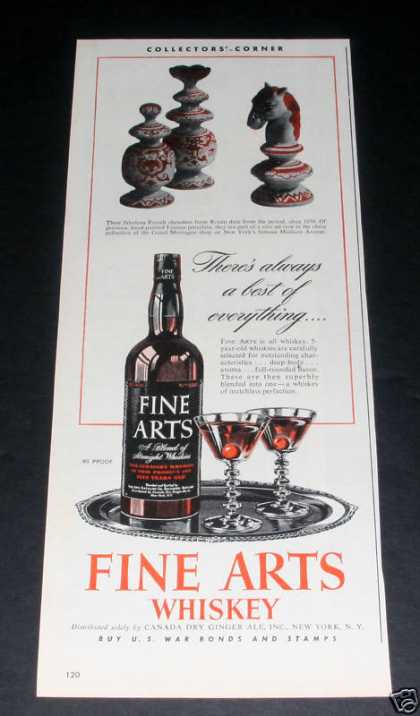 Fine Arts Whiskey, Chess Pieces (1945)