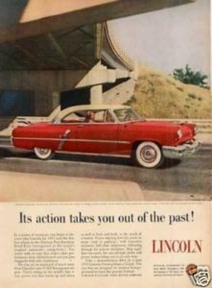 "Lincoln Car Ad ""Its Action Takes You... (1953)"