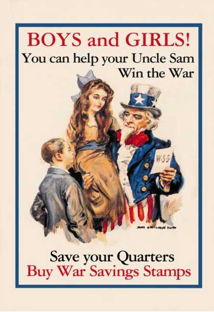 Uncle Sam, Boys and Girls (1918)