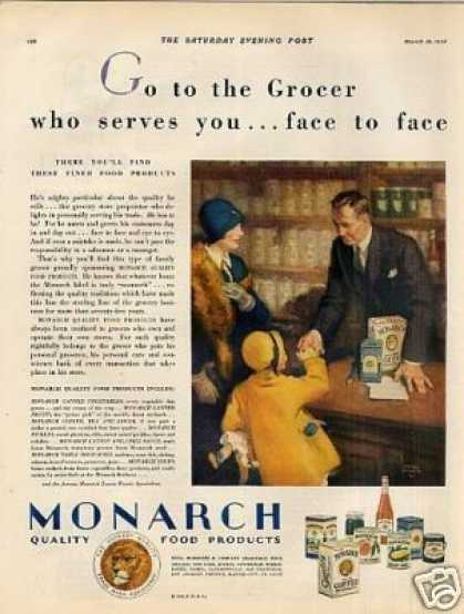 Monarch Food Products Color (1928)