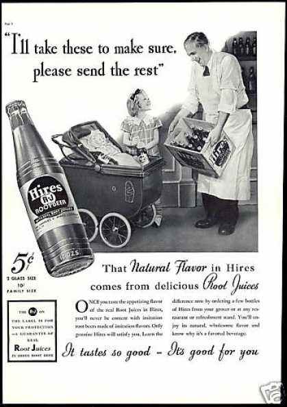 Grocer Doll Carriage Hires Rootbeer Root Beer (1937)