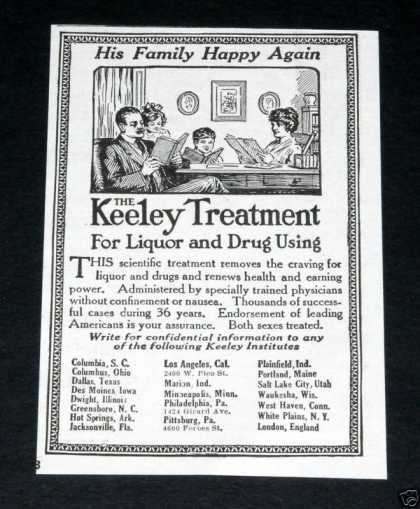 Keeley Treatment, Drugs, Liquor (1918)