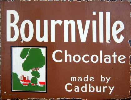 Cadbury's Bournville Chocolate Sign