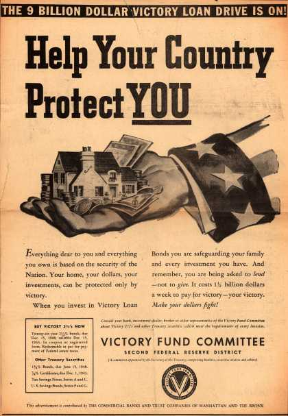 Victory Fund Committee's Victory Bonds – Help Your Country Protect You (1942)