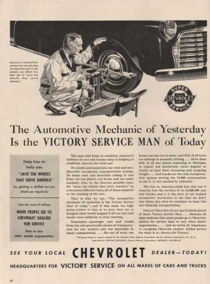 Victory Service Man Chevrolet Car Dealer A (1942)