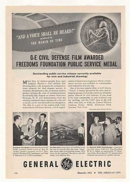 "GE ""And A Voice Shall Be Heard"" Civil Defense (1952)"