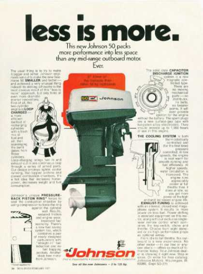 Johnson Outboard Boat Motor (1971)