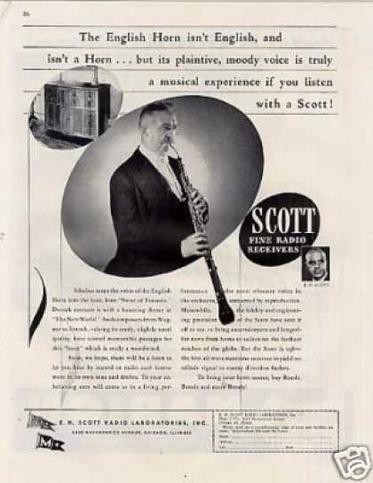 Scott Radio Ad English Horn (1944)