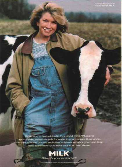 Martha Stewart – Got Milk? (1997)