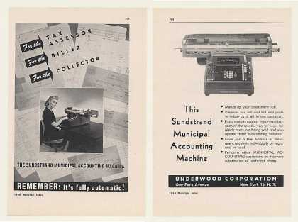 Underwood Sundstrand Accounting Machine 8-Page (1948)