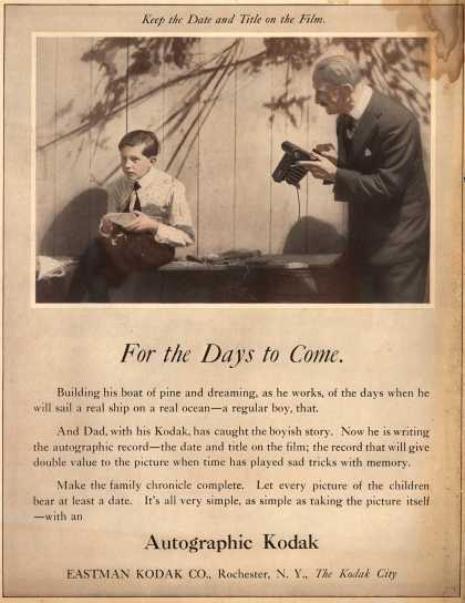 Kodak's Autographic cameras – For the Days to Come (1919)