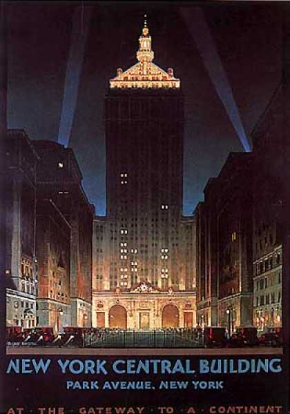 New York Central Building by C. Bonestell (1930)
