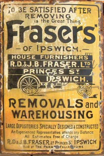 Frasers Removal's Sign