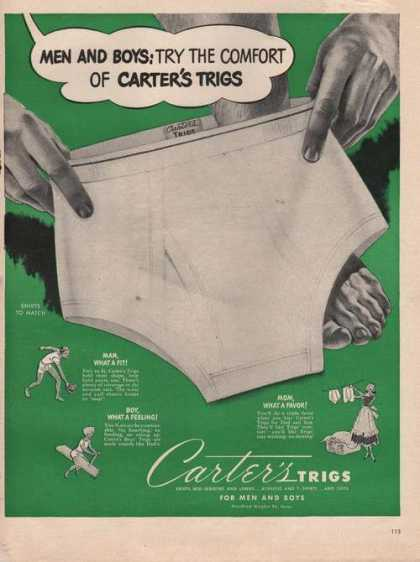 Carters Trigs Men & Boyes Underwear (1949)