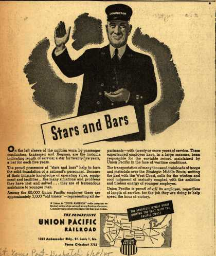 Union Pacific Railroad's Troop Travel – Stars and Bars (1945)