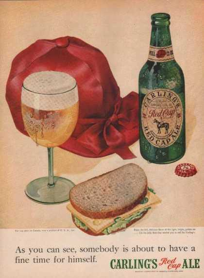 Carlings Red Cap Beer Ale (1949)