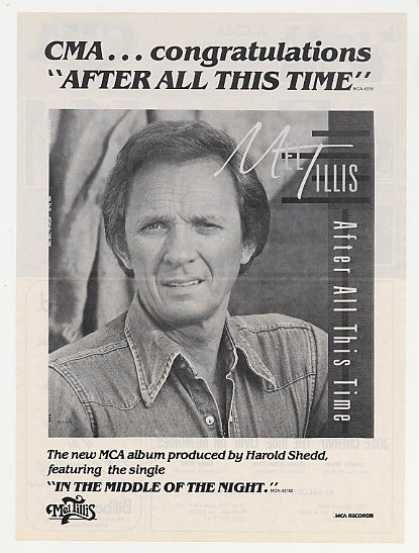 Mel Tillis After All This Time Promo Photo CMA (1983)