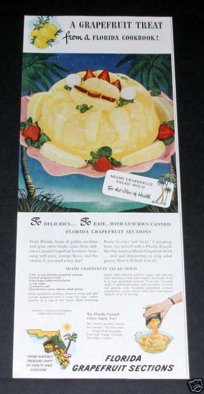 Florida Grapefruit Sections (1949)