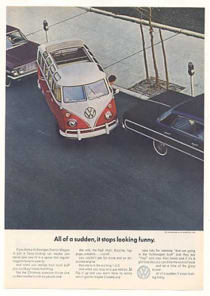 VW Station Wagon Stops Looking Funny Parking (1964)