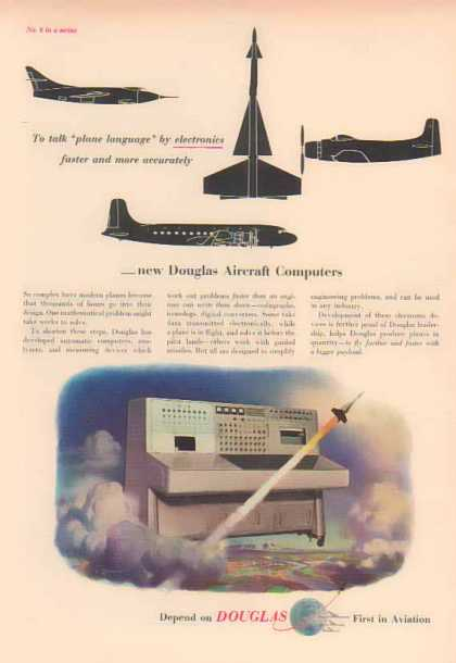 Douglas Aircraft – Computers – plane language by electronics (1951)