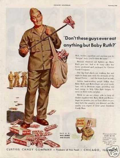 Curtiss Baby Ruth Candy (1943)