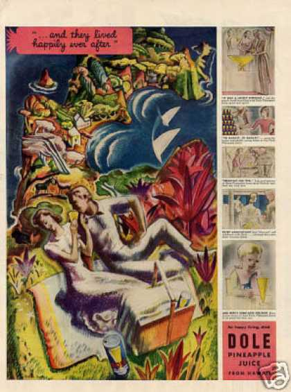 Dole Pineapple Juice Color (1939)