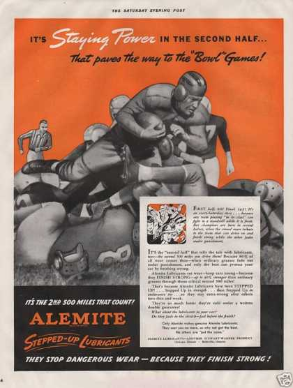 Alemite Stepped Up Lubricants (1940)