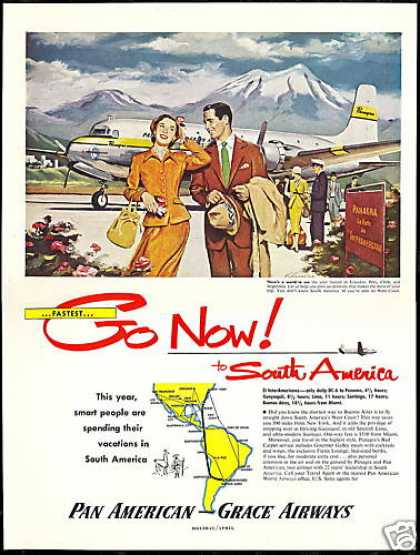 South America Panagra Pan American Grace Airway (1951)