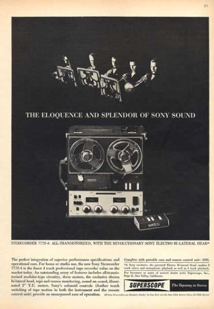 Superscope Reel To Reel Recorder Player (1963)