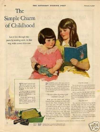 "Palmolive Soap Color Ad ""The Simple Charm... (1927)"