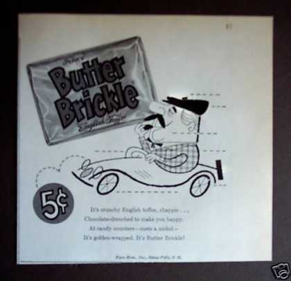 Butter Brickle English Toffee Candy (1956)