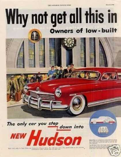 Hudson Car Ad 2 Page (1949)
