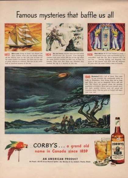 Famous Mysteries Corbys Whiskey (1949)