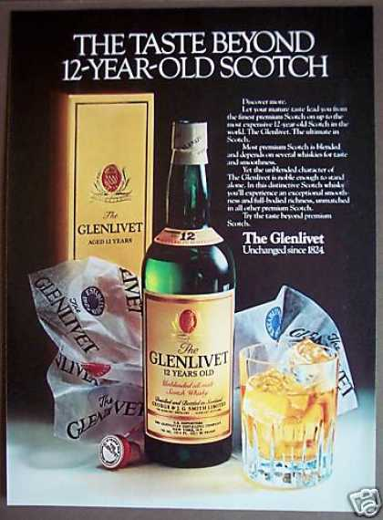The Glenlivet 12-year-old Scotch (1981)