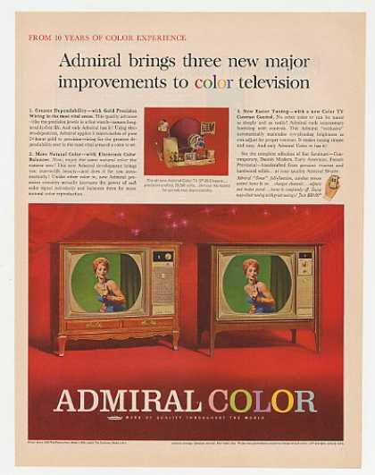 Admiral Chanceford & Courtney Color TV (1963)