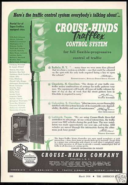 Crouse Hinds Traffic Control System Lights (1956)