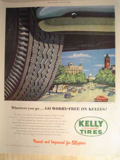 "Kelly Tires Part of ""pictures of America Series"" & Sylvania (1952)"