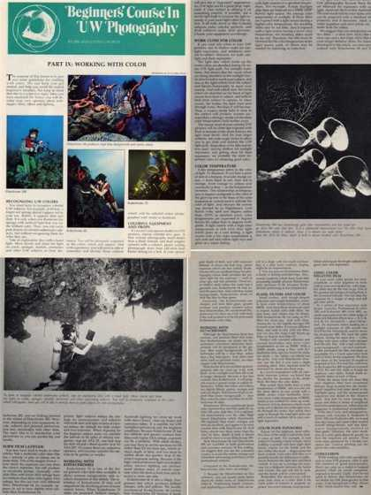 '78 Underwater Photography Working With Color Article T (1978)