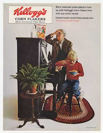 Kelloggs Corn Flakes Boy Reluctant Piano Player (1965)
