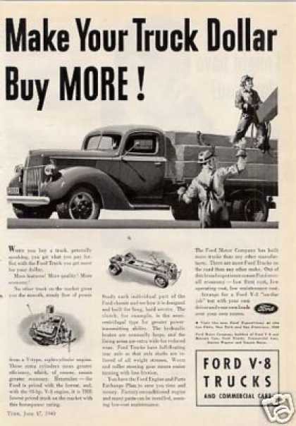 "Ford Truck Ad ""Make Your Truck... (1940)"
