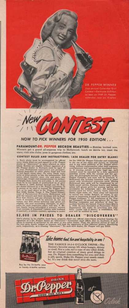 Dr Pepper Soda Contest (1949)